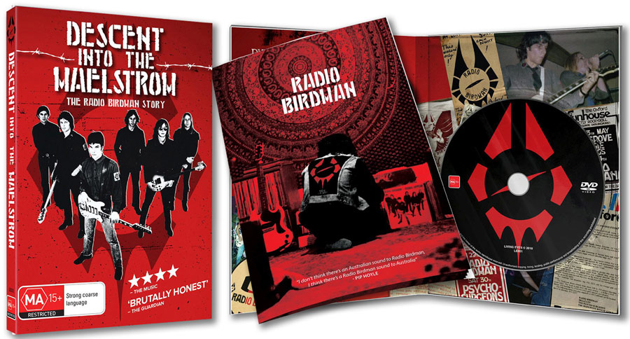 Radio Birdman - Descent Into The Maelstrom DVD Unfolded Cover